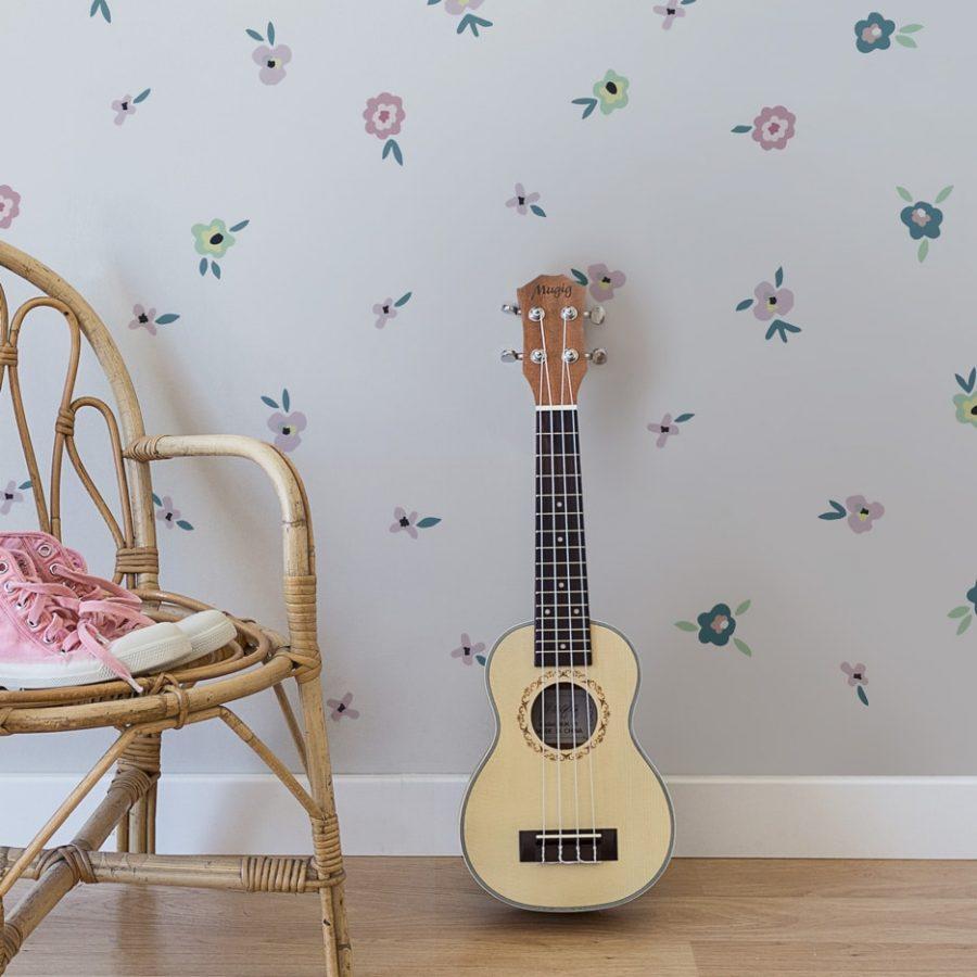 Flowers sticker decor guitar detail Collection Childhood memories - tresxics