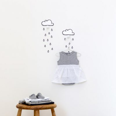 Two clouds wall hook white decor - tresxics