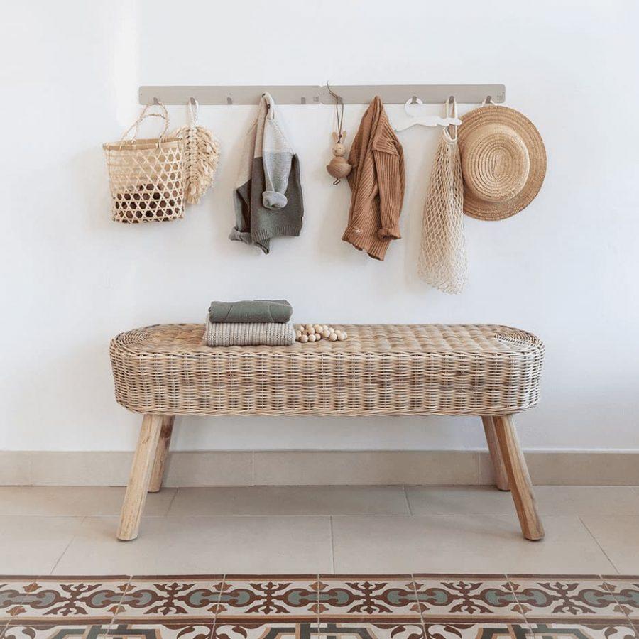Basic coat rack decor on the wall color soft grey - tresxics