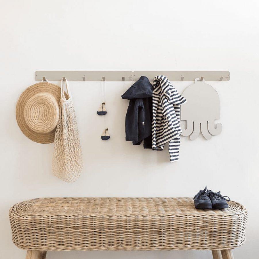 Basic coat rack color soft grey decor - tresxics