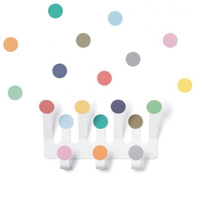 Dot coat rack collection Dot to dot colors - Tresxics