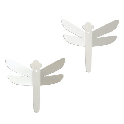 Two dragonflies hooks collection Childhood memories color white- Tresxics