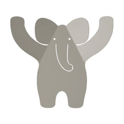 Elephant hooks collection Wild friends color soft grey - Tresxics