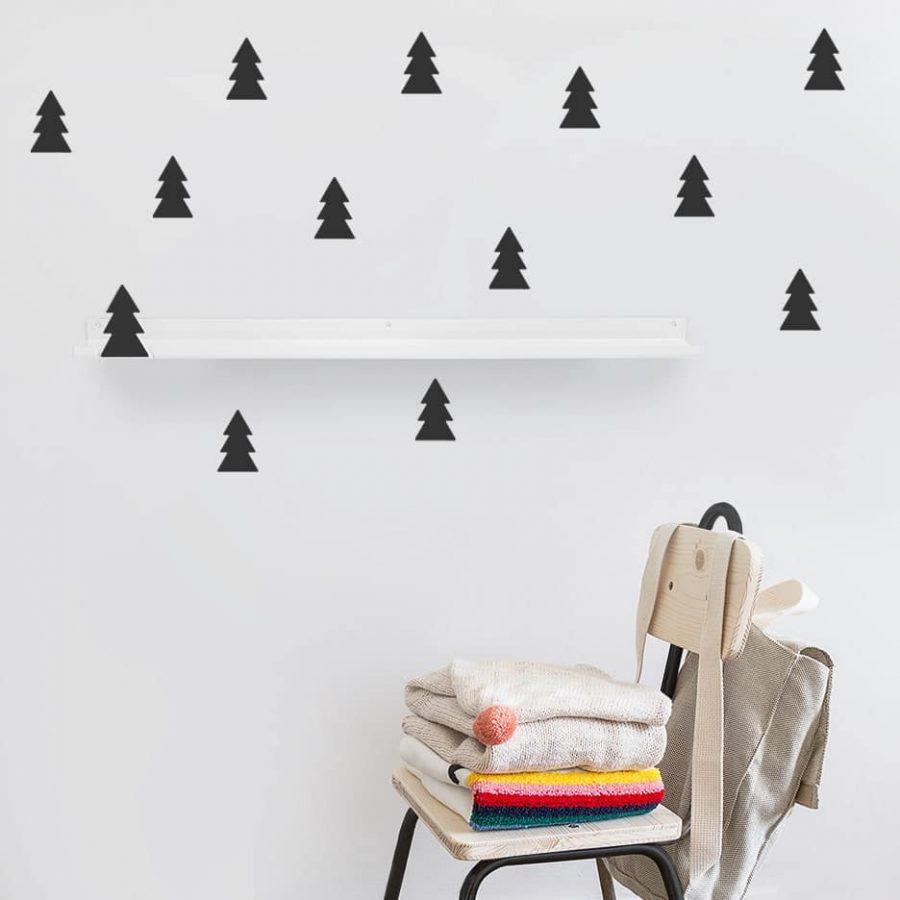 Long shelf tree black decor - tresxics