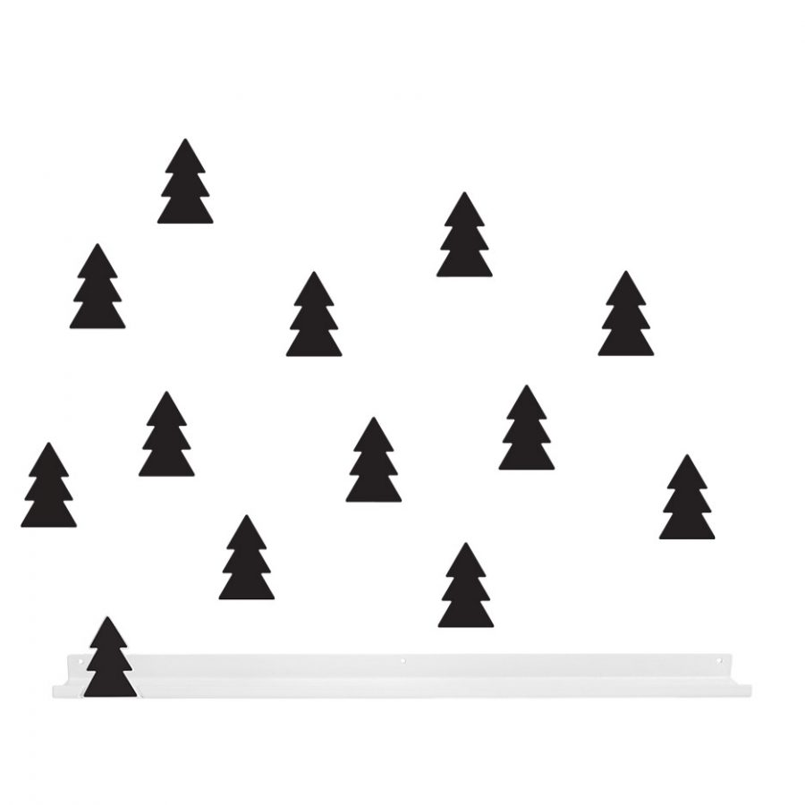 Long shelf collection Into the forest Shelf tree color black - tresxics