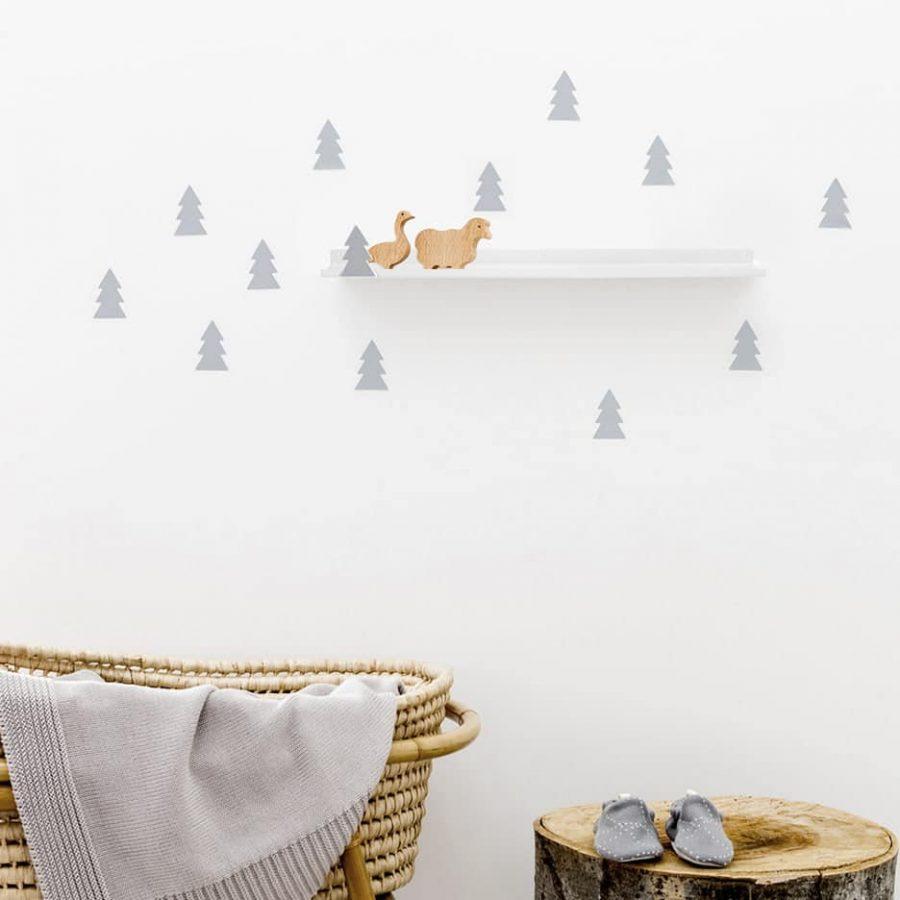 Long shelf tree soft grey decor - tresxics