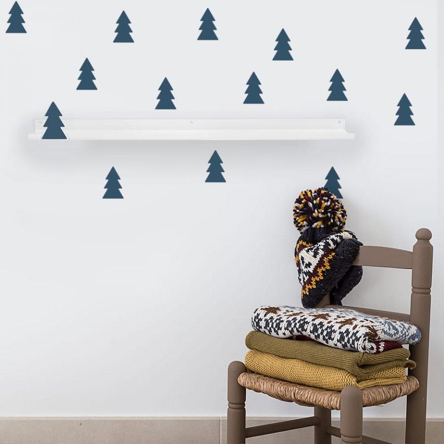 Long shelf tree oil blue decor - tresxics