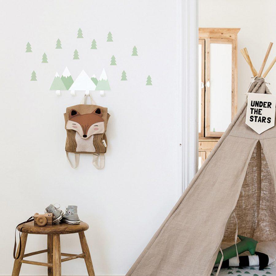 Big cloud wall hook green decor - tresxics