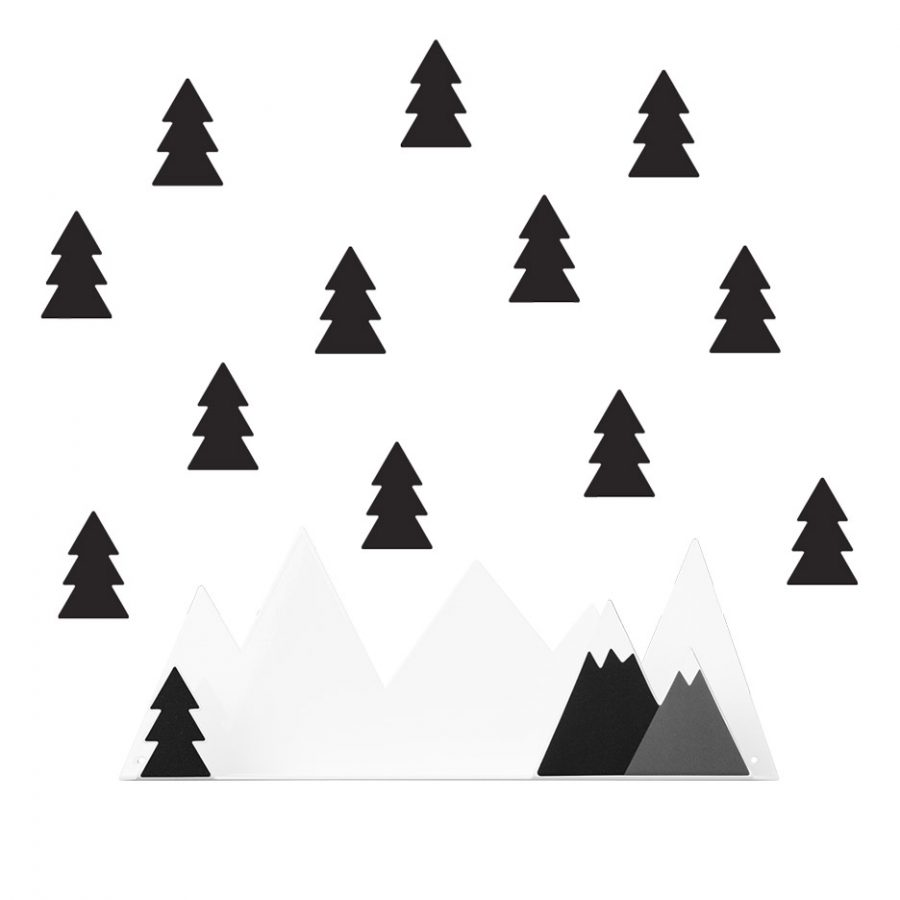 Shelf collection Into the forest Shelf mountain color black - Tresxics
