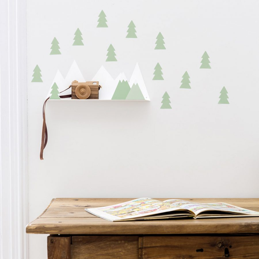Shelf mountain green decor - tresxics