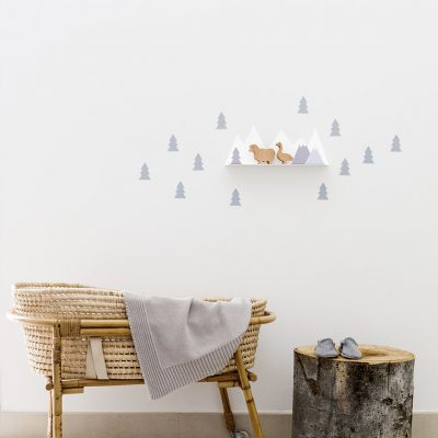 Shelf mountain grey decor - tresxics