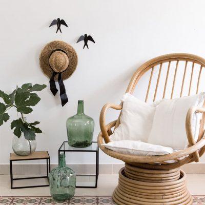 Swallow wall hanger decor color black - tresxics