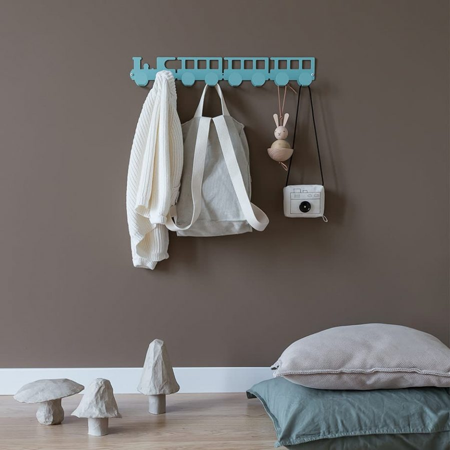 Train wall hanger collection Looking for adventure color turquoise - Tresxics