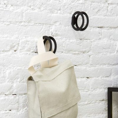 Circle hook black with bag Decor Collection Dot to dot - tresxics