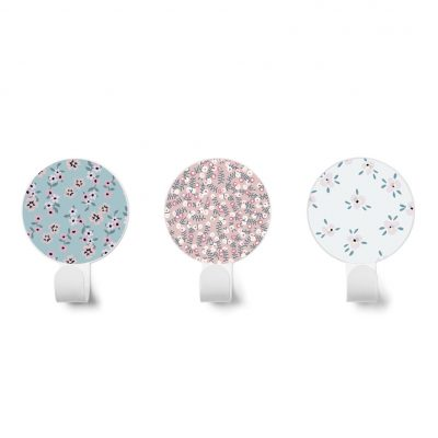 Flower Hook collection Dot to dot colors blue pink and white - Tresxics