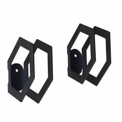 Product Black Hexagon hook Collection Dot to dot - tresxics