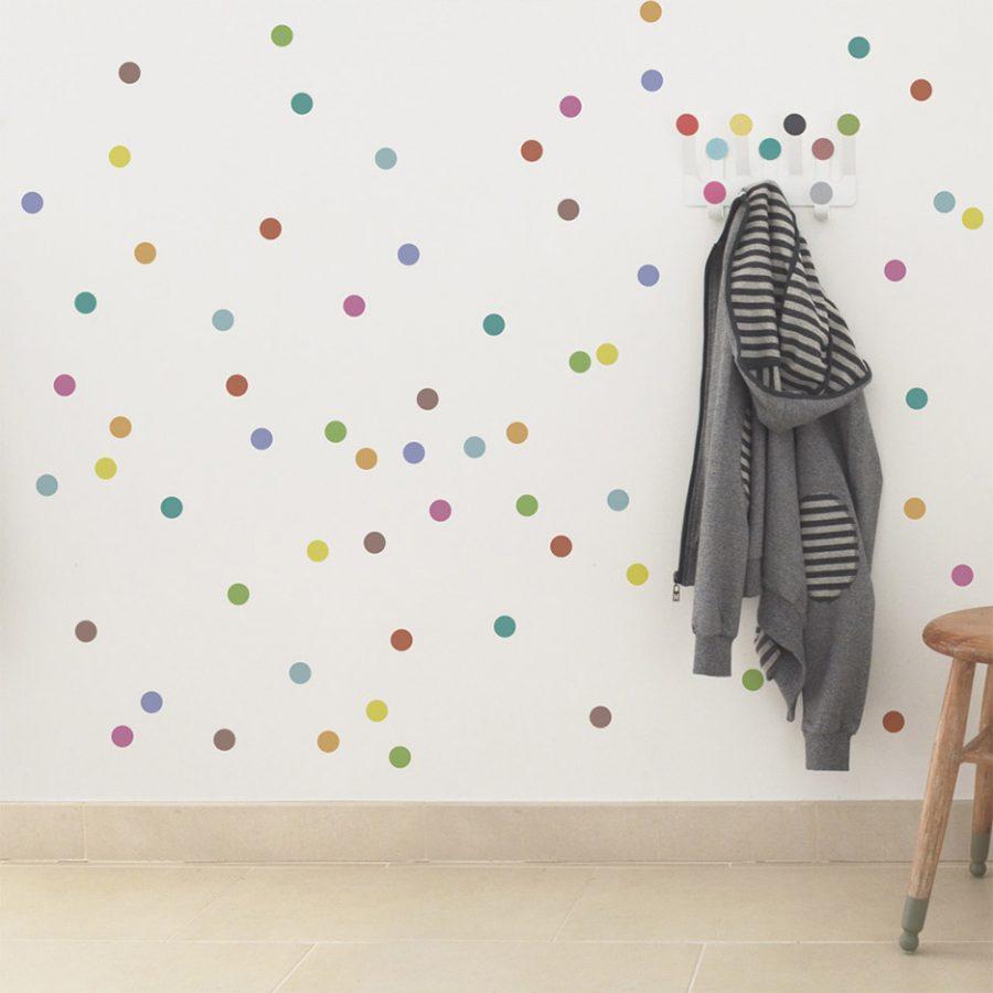 Regular Dot Wall sticker multicolor Collection Dot to dot - tresxics