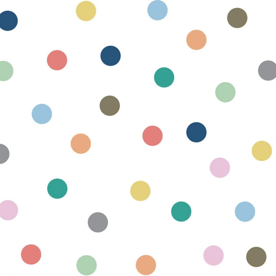 regular dots Wall sticker multicolor bright Collection Do to dot - tresxics