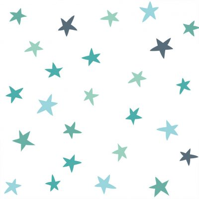 Stars Wall sticker turquoise Collection Looking for adventure - tresxics