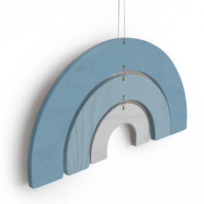Product Wood rainbow mobile blue Collection Crea Kit DIY - tresxics