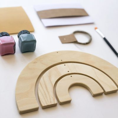 Wood rainbow mobile product decor Collection Crea Kit DIY - tresxics