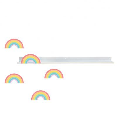 Producto estantería larga con forma de arcoíris colección in the sky - Tresxics